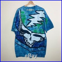 Vintage 1995 Liquid Blue Grateful Dead Tie Dye Double Sided T-shirt Size Xlarge