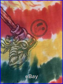 Vintage 1996 Lithuania Basketball Tie Dye Shirt Grateful Dead Liquid Blue XL