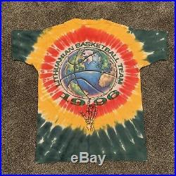 Vintage 1996 Lithuania Liquid Blue Tie Dye T-Shirt Mens Size XL Grateful Dead