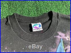 Vintage 1997 LIQUID BLUE XL Single Stitched T Shirt Grateful Dead Wizard Dragon