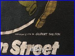 Vintage 70s 1978 Grateful Dead Shakedown Street Concert Tour T-Shirt M/L