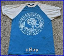 Vintage 70s Grateful Dead Shirt 1979 Spartan Stadium sz M Tour Concert Deadhead