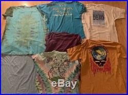 Vintage 80's 90's Grateful Dead Concert Tour Band T-Shirt Lot (7) M-XL
