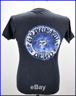 Vintage 80's Grateful Dead 1980 On The Road Again Skull Rock Tour T Shirt L Rare