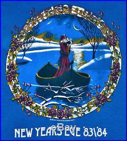 Vintage 80s 1983 GRATEFUL DEAD New Years Eve Rock Concert Tour T SHIRT sz S RARE