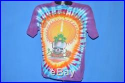 Vintage 80s GRATEFUL DEAD 1987 FALL TOUR TIE DYE FROG SKULL TOUR t-shirt MED M