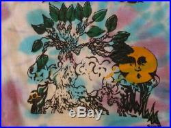 Vintage 80s Grateful Dead 1988 Tour Live in Concert Skull & Rose Tie-Dye T-shirt