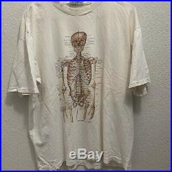 Vintage 80s anatomy t shirt anatomical Skeleton Grateful Dead Nirvana Utero