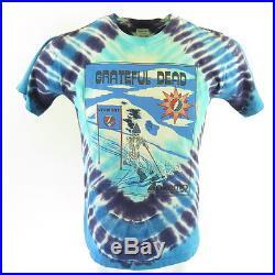 Vintage 90s Grateful Dead Band T-Shirt M Deadstock Tie Dye Ski Resort USA Made