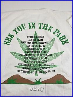 Vintage 90s Grateful Dead Shirt Uracid Park Jurassic Park Garcia 1993 VTG Rare L