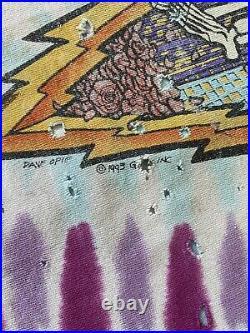 Vintage 90s Grateful Dead T-Shirt 1993 New York City Liquid Blue Single Stitch