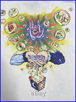 Vintage 90s Jerry Garcia Band Liquid Blue Tour T Shirt-XL Mint Grateful Dead USA
