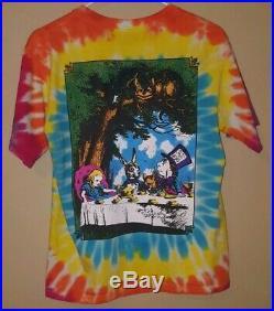 Vintage Alice In Wonderland Tye Dye Shirt Small Grateful Dead 90s 2000s Disney