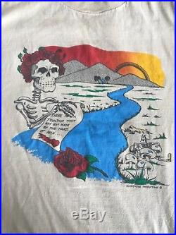 Vintage Band T Shirt Original Grateful Dead Shirt with Ripple lyrics
