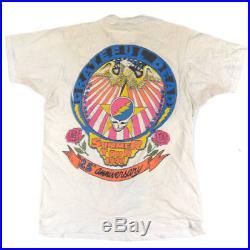 Vintage Bootleg Bart Simpson Grateful Dead Head T-shirt Jerry Garcia 1990 Tour