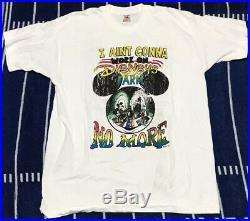 Vintage Disney Stoner Shirt Aint Workin On Farm No More 90s Grateful Dead Weed