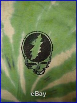 Vintage GRATEFUL DEAD 1990s On Tour Forever Tie Dye T-shirt Large Rare
