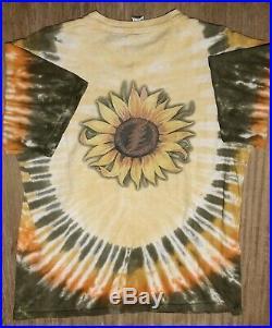 Vintage GRATEFUL DEAD 1994 Tie Dye Cotton Sunflower T Shirt Sundog Size Large L