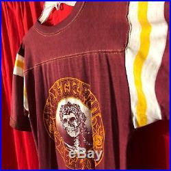 Vintage Genuine 1980 GRATEFUL DEAD Stanley Mouse 2-sided Jersey T-shirt
