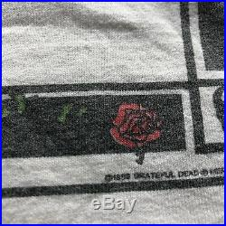 Vintage Grateful Dead 1988 House Of Cards Double Sided Tour T-Shirt RARE