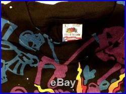 Vintage Grateful Dead 1992 Allover Skeletons T Shirt Lg Mint Never Worn