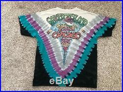 Vintage Grateful Dead 1992 Chicago Soldier Field Liquid Blue XL Shirt XXL