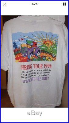 Vintage Grateful Dead 1994 Summer Tour Shirt XL Jerry Garcia Supreme Dead Bears