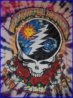 Vintage Grateful Dead 1995 Tour 30th Anniversary Summer Shirt XL Tie-Dye NOS