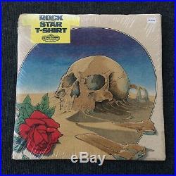 Vintage Grateful Dead 80s Skull Red Rose Tour Rare Skull T Shirt