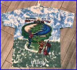 Vintage Grateful Dead 94 Tour Band Tee T Shirt Large Golfer Double Sided DS NOS