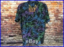 Vintage Grateful Dead All Over Print Tee Shirt Brockum Size L/XL (114)