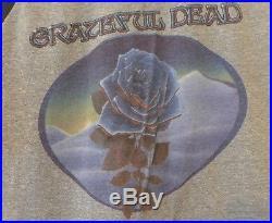 Vintage Grateful Dead American Beauty/Blue Rose Jersey T-Shirt RARE S
