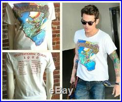 Vintage Grateful Dead Band Tee Shirt Summer Tour 1986 Griffin Surfing Skeleton