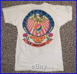 Vintage Grateful Dead Bartman Dead Head Concert Tour Shirt 1990 Deadagonia L OG