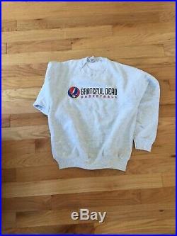 Vintage Grateful Dead Basketball Skull Flash Logo Sweatshirt Adult L Never Worn