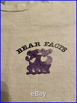 Vintage Grateful Dead Bear Facts Sex Positions Orgy T-Shirt Fashion Victim 90s