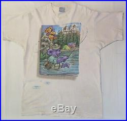 Vintage Grateful Dead Bears Camping L. L. Rain Summer of 1996 Concert T-shirt XL