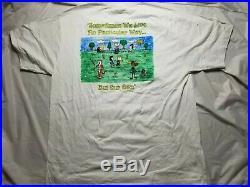 Vintage Grateful Dead CALVIN HOBBES SNOOPY 1995 Summer Tour T-Shirt XL