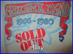 Vintage Grateful Dead Concert T-Shirt St. Stephen, 1980 Tour