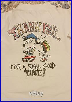 Vintage Grateful Dead Concert T shirt 1990 Loose Lucy Charlie Brown Snoopy 2 Sid