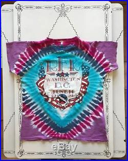 Vintage Grateful Dead Concert Tour T-shirt 1991 RFK Washington DC Tie Dye Large