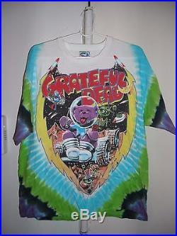 Vintage Grateful Dead Cosmic Charlie Bear Space Concert Tour T-shirt XL Tie Dye