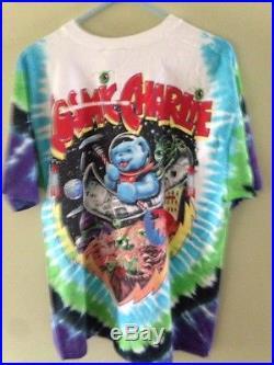 Vintage Grateful Dead Cosmic Charlie S/s Concert Tour T-shirt Tye Dye L Space