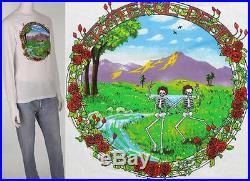 Vintage Grateful Dead GDP Skeleton Long Sleeve Tour 1984 Tee T Shirt Mint XS
