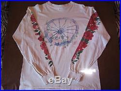 Vintage Grateful Dead Hanes Long Sleeve White T-shirt Size L