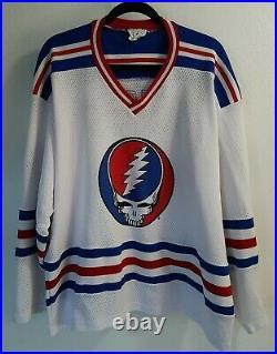 Vintage Grateful Dead Hockey Jersey Mens Size XL Dead #1 Tour Steal Your Face