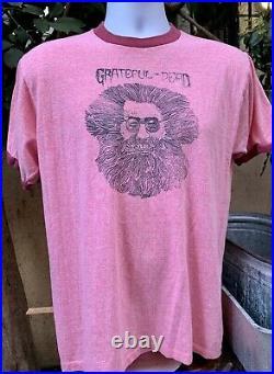 Vintage Grateful Dead Jerry Garcia Bootleg T-shirt XL TOWNCRAFT brand 1970s ORIG