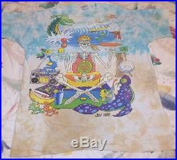 Vintage Grateful Dead Joey Mars Surfing Skeleton Beach Ocean Shirt XL 2 Sided