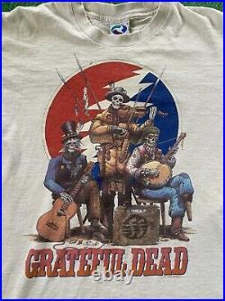 Vintage Grateful Dead Jug Band 1993 T-Shirt Original Liquid Blue 90s GDM Large