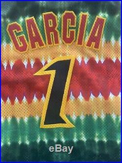 Vintage Grateful Dead Lithuania Jersey Size L Rare Jerry Garcia Liquid Blue USA